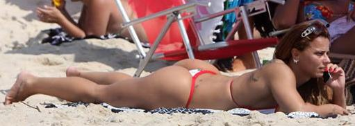 Rainha na praia