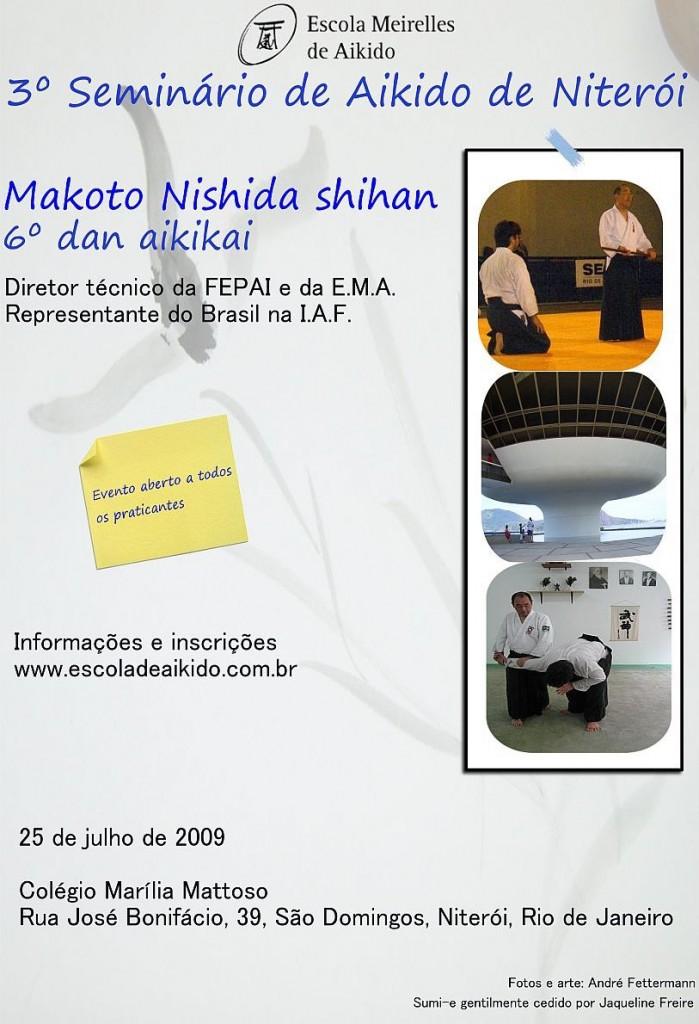 3º Seminário de Aikido - Makoto Nishida - Niterói/RJ
