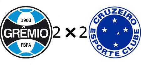 Grêmio 2x2 Cruzeiro