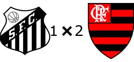 Santos 1x2 Flamengo