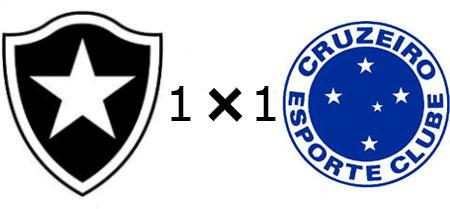 Botafogo 1x1 Cruzeiro
