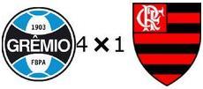 Grêmio 4x1 Flamengo