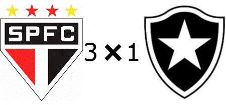 São Paulo 3x1 Botafogo