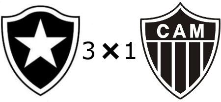 Botafogo 3x1 Atlético-MG