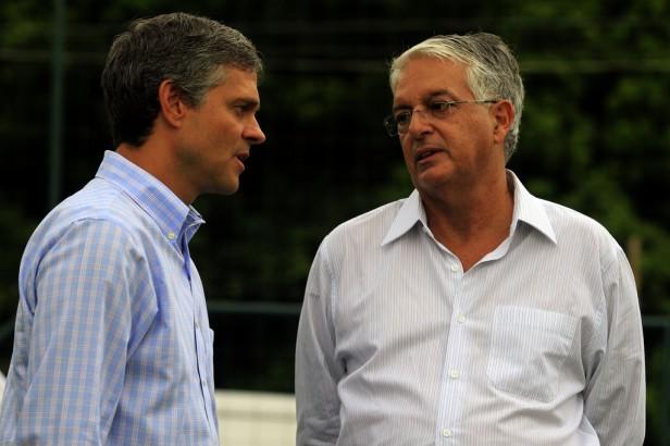 O Presidente do Fluminense e Peter Siemsen alinham discurso
