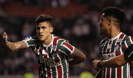 LDU 2x1 Fluminense - gol de Pedro